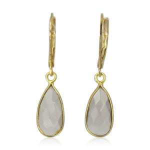 La Lacey 109 - Smokey Topaz Earrings Small