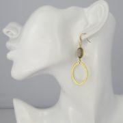 La Lacey 111 - Smoked Topaz Earrings Oval model