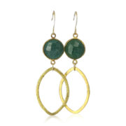 La Lacey 114 - Emerald Earrings Oval