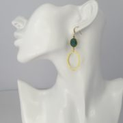 La Lacey 114 - Emerald Earrings Oval model