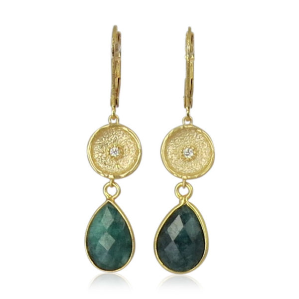 La Lacey 86 - Emerald Earrings Double