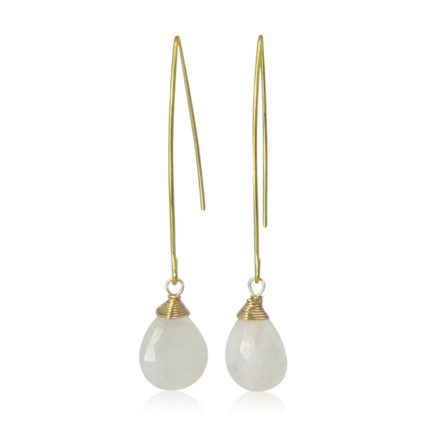 La Lacey 96 - Moonstone Earrings Hook