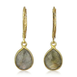 La Lacey 99 - Labradorite Earrings Small