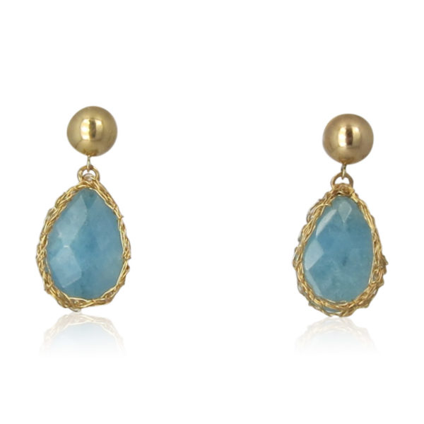 Smadar Sarid - Blue Jade Earrings