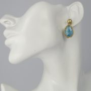 Smadar Sarid - Blue Jade Earrings model