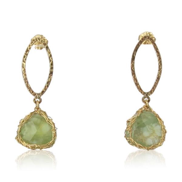Smadar Sarid - Prehnite Earrings