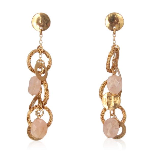 Smadar Sarid - Roze Quarts Earrings