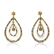 Gas Bijoux - Aurore Serti Grande Earrings