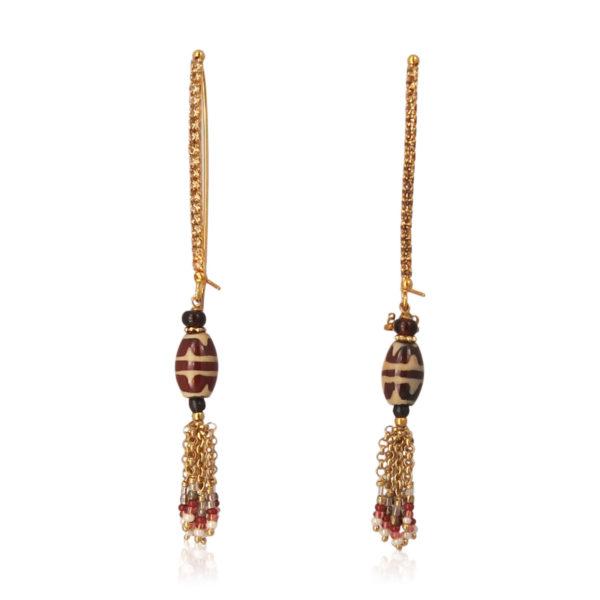 Gas Bijoux - Cone Pomponet Earrings
