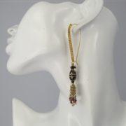 Gas Bijoux - Cone Pomponet Earrings model