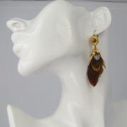 Gas Bijoux - Sao Feather Earrings model