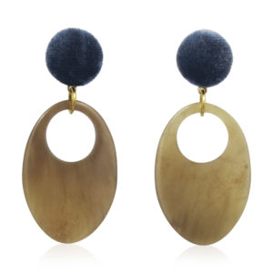 Lara Design - Earrings Blue Buffalo