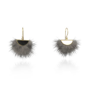 Lara Design - Earrings Fluffy Grey
