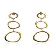 Lara Design - Earrings Gold Shapes