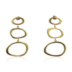 Lara Design - Earrings Gold Shapes