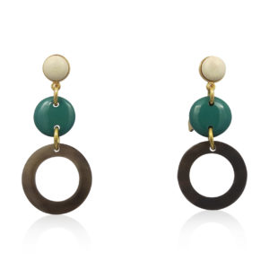 Lara Design - Earrings Green White