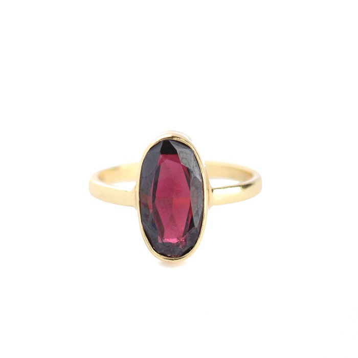 Muja Juma - Ring Gold Grandma Dark Red