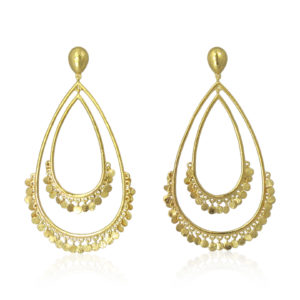 Pink Sand Jewelry - Earrings Gold Drop Coins