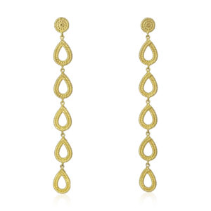 Pink Sand Jewelry - Earrings Gold Drops Large