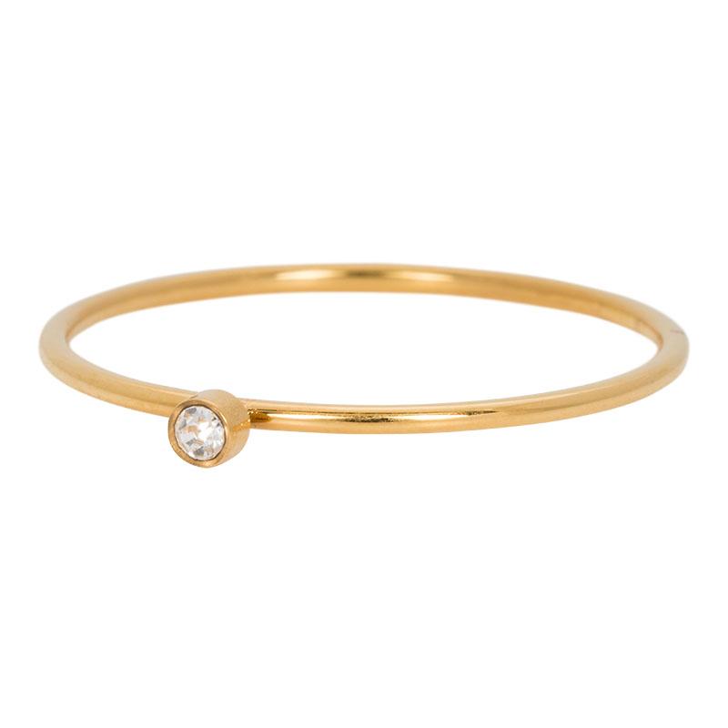 Ixxxi - Zirconia 1 Stone Crystal Gold R03905