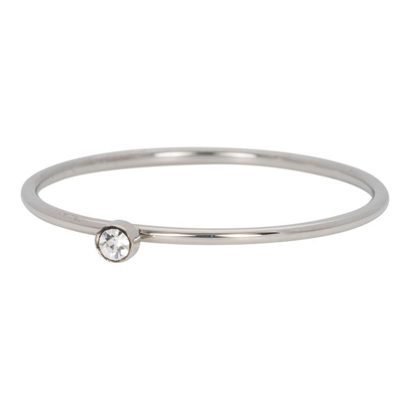 Ixxxi - Zirconia 1 Stone Crystal Silver R03905