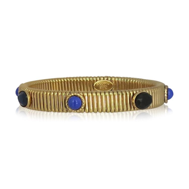 Gas Bijoux - Bracelet Strada Gold Blue