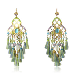 Gas Bijoux - Earrings Gold Green Colors