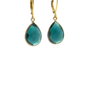 Lilly Jewelry - Earrings Gold Blue 01