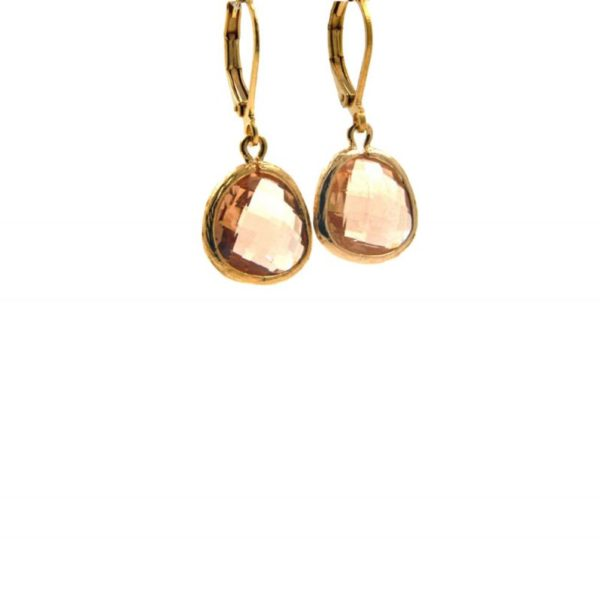 Lilly Jewelry - Earrings Gold Champagne 01