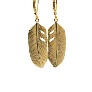 Lilly Jewelry - Earrings Gold Feather