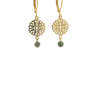 Lilly Jewelry - Earrings Gold Filligrain S Jade