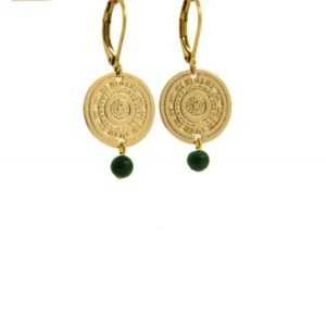 Lilly Jewelry - Earrings Gold Jade 02
