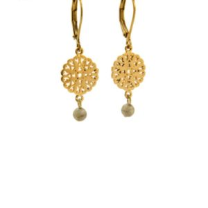 Lilly Jewelry - Earrings Gold Labradorite 01