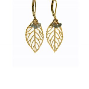 Lilly Jewelry - Earrings Gold Labradorite 03