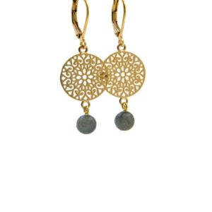 Lilly Jewelry - Earrings Gold Labradorite 04