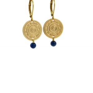 Lilly Jewelry - Earrings Gold Lapis 02
