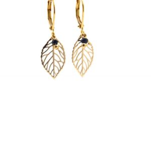 Lilly Jewelry - Earrings Gold Onyx 01