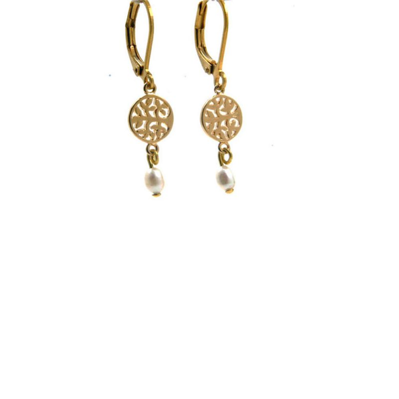 Lilly Jewelry - Earrings Gold Pearl 04
