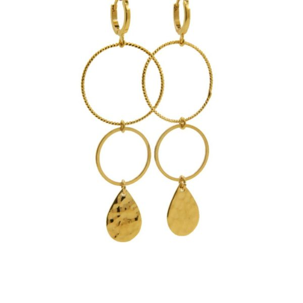 Lilly Jewelry - Earrings Gold Rings