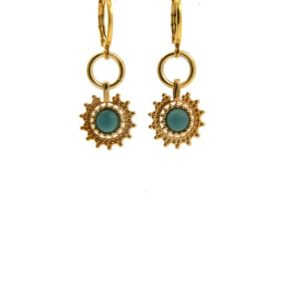 Lilly Jewelry - Earrings Gold Topaz