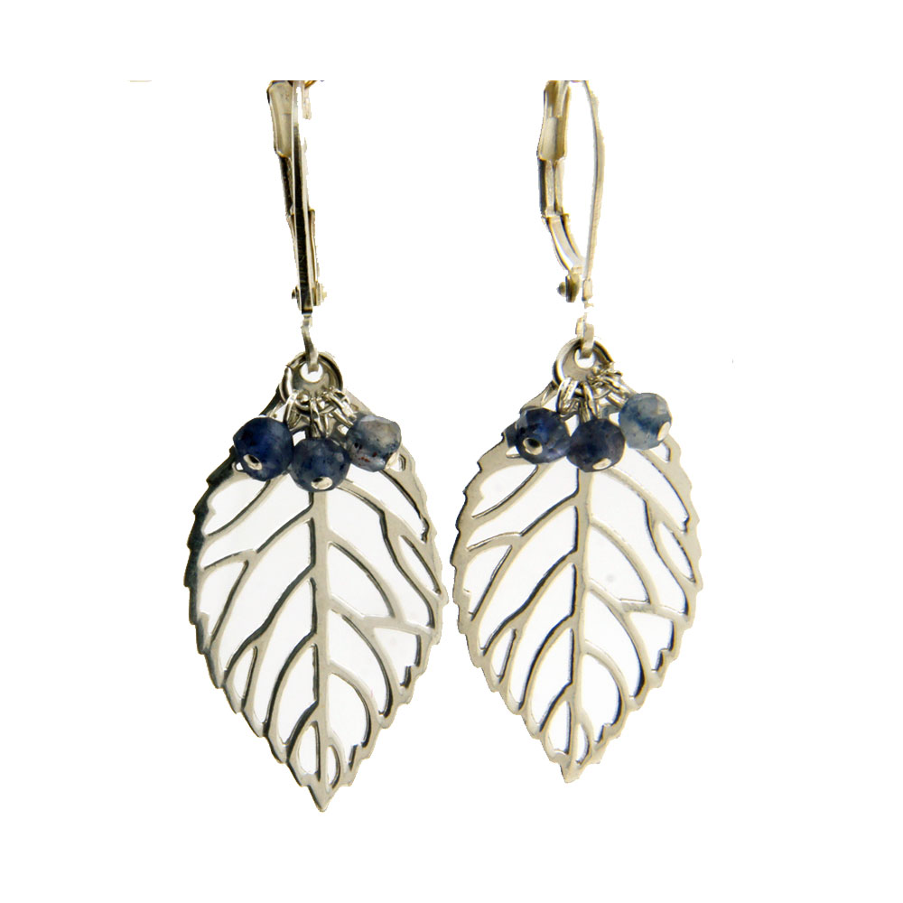 Lilly Jewelry - Earrings Silver Sapphire 01