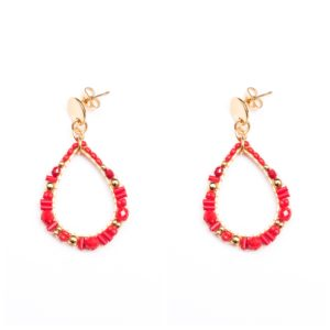 Melz - Earring Isa Red
