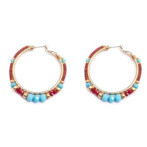 Melz - Earring Jill Medium Blue Red