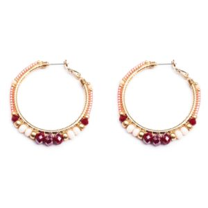 Melz - Earring Jill Medium White Red