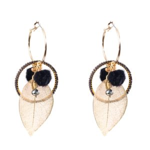 Melz - Earring Rose Black