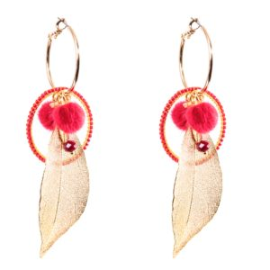 Melz - Earring Rose Red