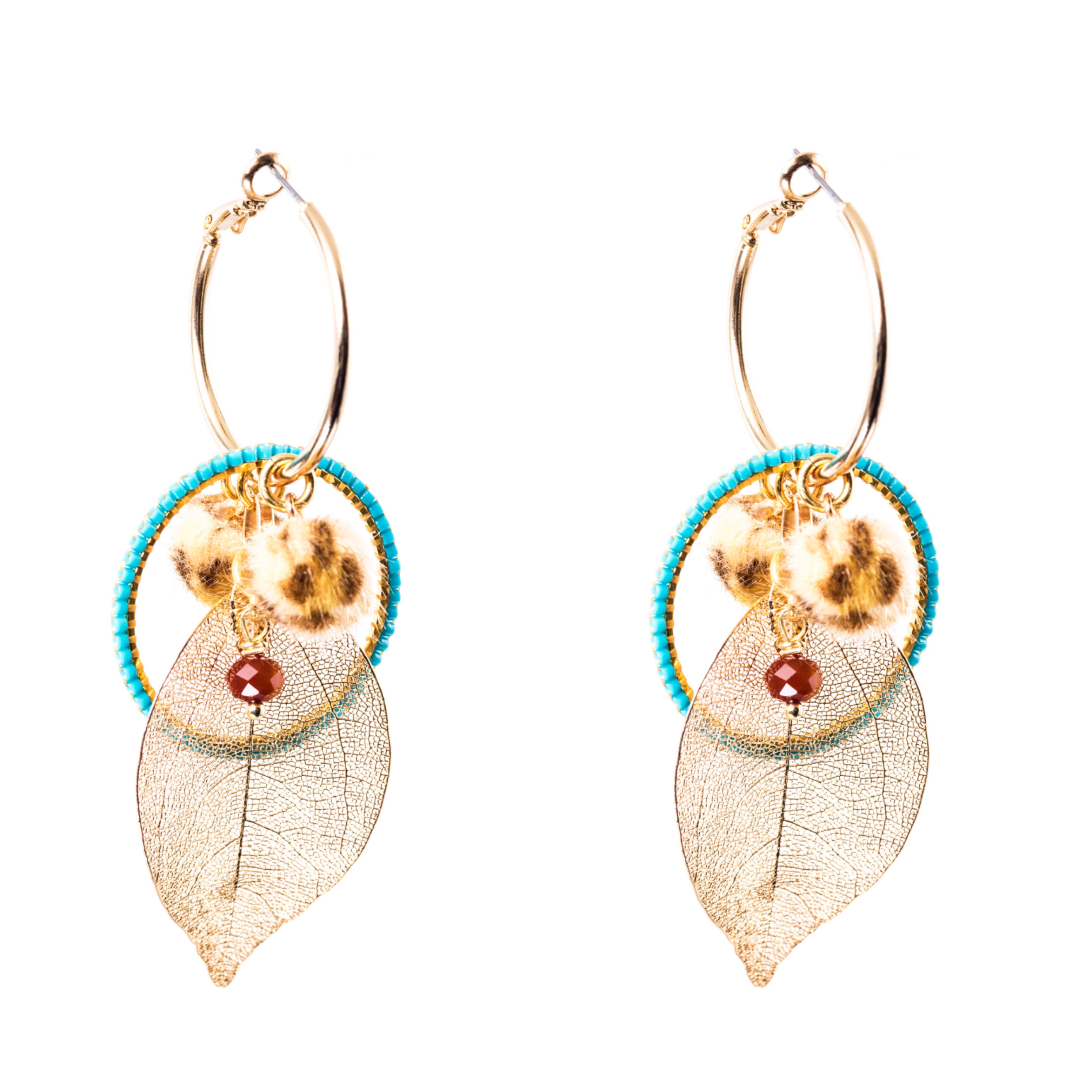 Melz - Earring Rose Turquoise
