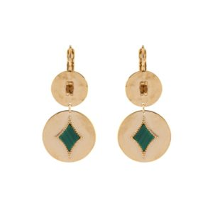 Satellite Paris - Earrings June Green JUN05DOV