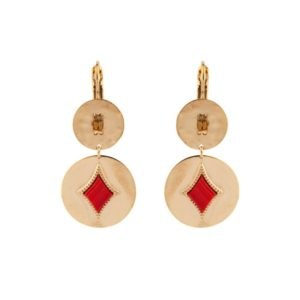 Satellite Paris - Earrings June Red JUN05DOR