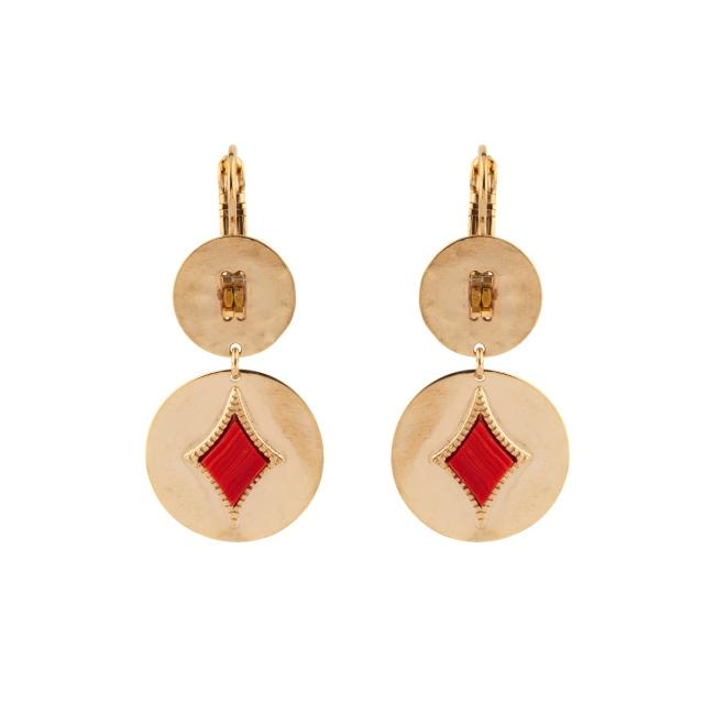 Satellite Paris - Earrings June Red JUN05DOR